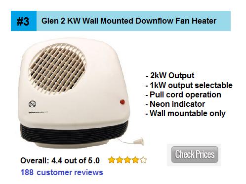Glen 2 Kw Wall Mounted Downflow Fan Heater Home Heater Guide